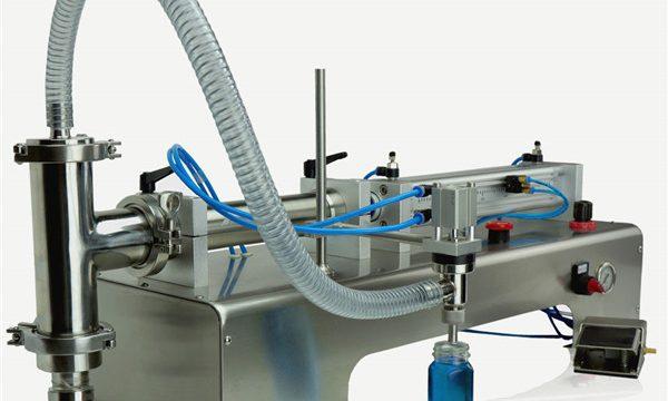 Máquina de enchimento do óleo lubrificante das cabeças dobro do controle pneumático