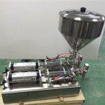Máquina de enchimento amplamente utilizada do doce de morango das cabeças dobro