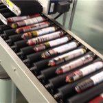 Máquina de etiquetas automática de salsicha com alimentador