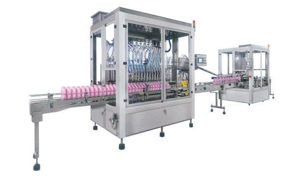 Máquina de enchimento automática completa do champô do sabão líquido