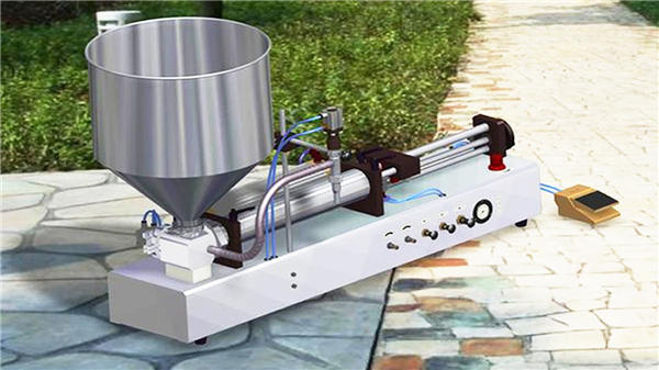 Máquina de enchimento vertical semi-automática de pasta de dente