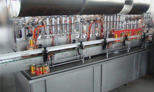 Máquina de enchimento de pasta com pimentão automática de cabeça dupla