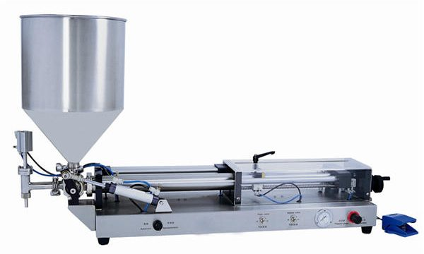 Máquina de enchimento semiautomática de pasta para 3mL-5L