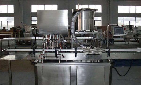 Linha reta automática máquina de enchimento de pistão