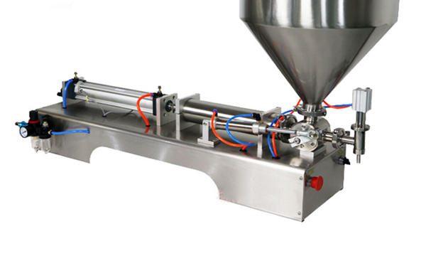 Máquina de enchimento de molho grosso de pistão semiautomático